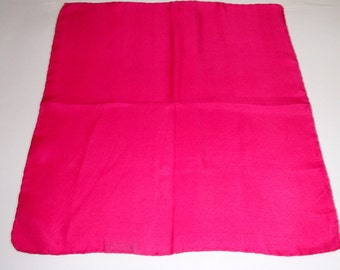 Renoir/ PINK VINTAGE/ Silks Scarf/ Made in Italy / 1980S Rare Find