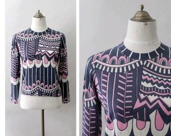 1960 Sweater printed wool sweater
