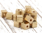 Raw Brass Square Cube Spacers, Industrial Jewelry Supplies, Industrial Findings, 5x5mm, 20 pcs // RAW-039