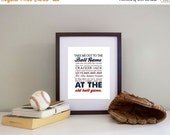 ONSALE Baseball Print Take me out to the Ballgame  Pick your Team AND Colors - Baseball Nursery Canvas Printing Available