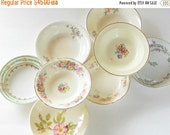 On Sale Mismatched Cottage Style Small Bowls Set of 8  Tea Party, Sauce Bowls, Wedding, Berry Bowls, Vintage, Housewarming Gift Inspired