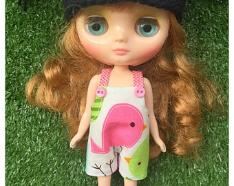 "Middie Blythe Outfit : ""Lovely Bird Dungarees"" (Dungarees)"