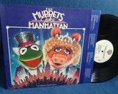 "RARE, Vintage, ""The Muppets Take Manhattan"" Original Soundtrack Vinyl LP, Record Album, Electric Mayhem, Kermit The Frog, Frank Oz"