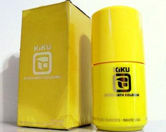 Vintage 1960s Kiku by Faberge 4 oz After Bath Cologne Splash and Box DISCONTINUED PERFUME