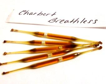 Vintage 1950s Breathless by Charbert Perfume Nip Sample Vial