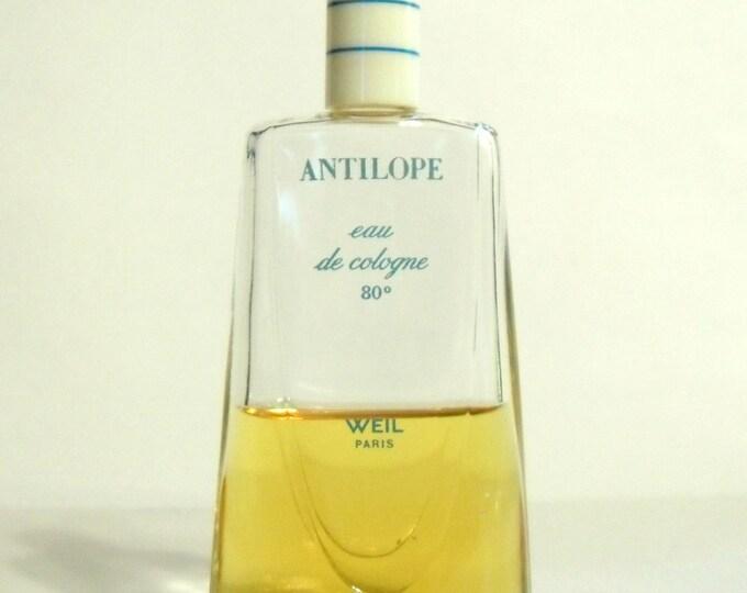 Vintage 1950s-1960s Antilope by Weil 2 oz Eau de Cologne Splash PERFUME