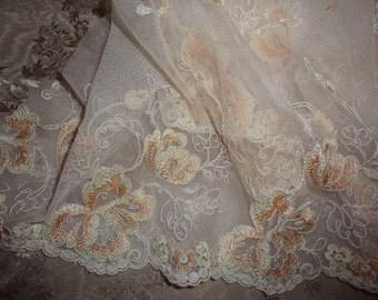 Gorgeous Embroided Net Lace 2 yards Destash (7)