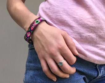 Pink Small Friendship Bracelet - Magnetic Closure (001SB)