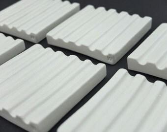 Minimalistic porcelain soap dish, modern soap dish, elegant soap dish, japanese style ceramics, contemporary ceramics