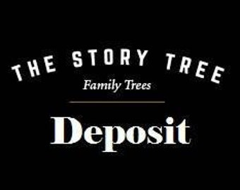 Personalized Family Tree -DEPOSIT for a Custom Family Tree Drawing