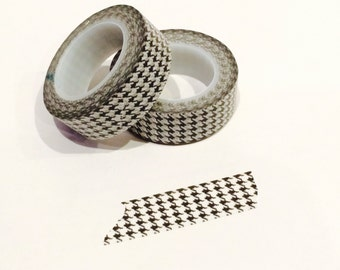 Houndstooth Washi Tape, Scrapbooking, Planner, Crafting