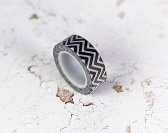 washi tape - black chevron - PROMO