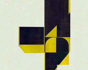 Abstract composition 773 - abstract geometric - minimalism - architecture - 60 x 84 cm - A1 - Limited edition