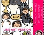 Catholic clip art - LINE ART