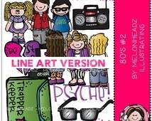 80s clip art Part 2 - LINE ART