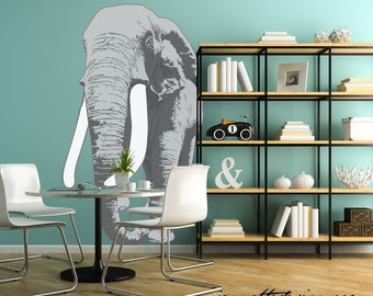 Home Wall Decor, Large Elephant Fabric Wall Decal