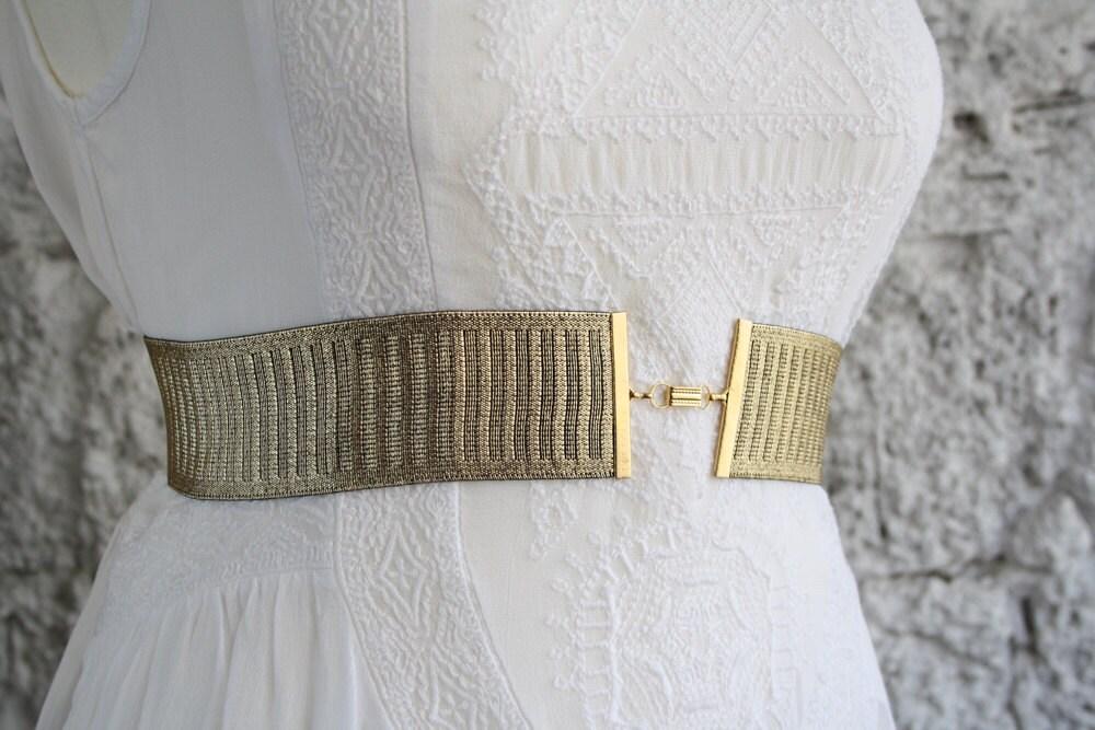 Gold belt waist belt wedding dress belt gold sash belt for Gold belt for wedding dress