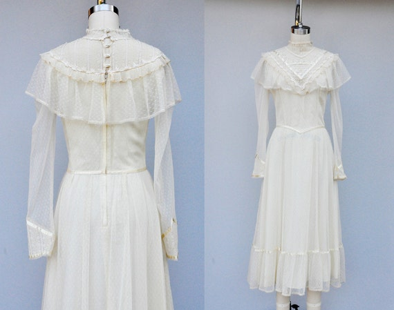 Gunne Sax Lace Dress Jessica San Fransico Dress Ivory Lace
