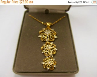 ON SALE NOLAN Miller Faux Pearl and Crystal Floral Necklace Item K # 1676