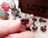 10mm Plastic Nose Stuffed Animals Noses Amigurumi Safety Noses Dog Nose - brown - 10 pcs