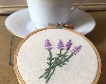 Sprig of Lavender embroidery