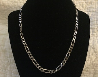 Vintage 925 Sterling Silver ITALY Chain Necklace, Length 18''