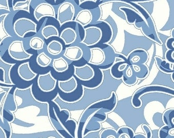 Windham fabric Serena Blue and White Floral