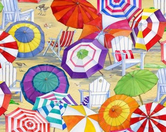 Elizabeth's Studio fabric BEACH UMBRELLAS