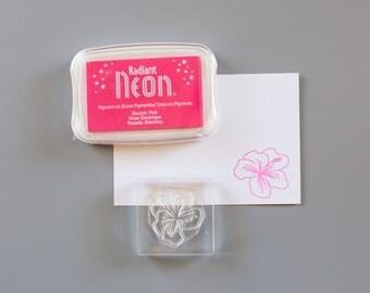 Neon Ink - Neon Ink Pad - Radiant Neon Pink Ink Pad - Pink Stamp Pad - Electric Pink Stamp ink - Neon Pink Inkpad - Imagine Crafts