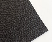SALE 8x11 Black Textured Faux Leather Fabric Sheet