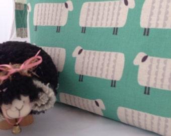 XL Knitting Project Bag Canvas Sheep, KOKKA sheep projecr bag, knitting project bag
