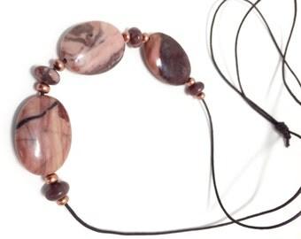 Kona Dolomite Sliding Stone Adjustable Necklace (oval)