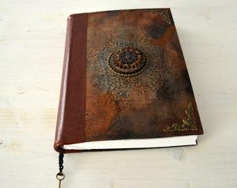 Handmade Blank Journal, Sketchbook, Notebook, Diary, Art journal with original mixed media covers
