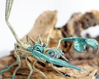 scorpion wire sculpture · scorpion decorative art · standing sculpture · wire art · wire arachnida · decorative scorpion · scorpion art