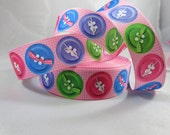 "Colorful Button Grosgrain ribbon, colorful buttons , 7/8"" Grosgrain Ribbon, Wholesale ribbon, Craft supplies, RN14780"
