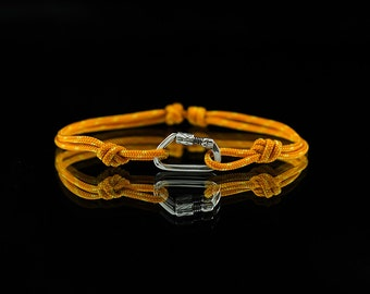 Functional Locking Carabiner bracelet. Charm for climbers, hikers and caver