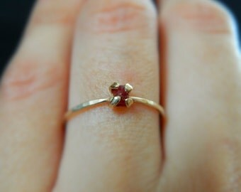 Ruby Ring, Anniversary Ring, July Birthstone, Rose Gold Ring, Ruby Engagement Ring, Promise Ring, Ruby Jewelry, Ruby Gemstone