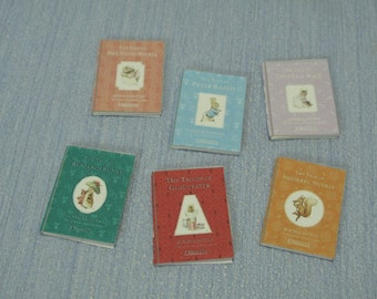 Gaël Miniature Beatrix Potter Collection lot handmade for dollhouse 12th scale book child 1:12 Dollhouse Miniature home decor book nursery