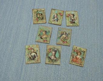 Miniature Vintage Marie Antoniette Letters and Postcards1:12 Scale Or 1/6 Scale Dollhouse Miniature playscale Dollhouse desk accesories