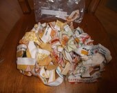 Bag full of FABRIC SELVEDGES  Sewing Quilting Crafts 4.2 oz Reserve for J C