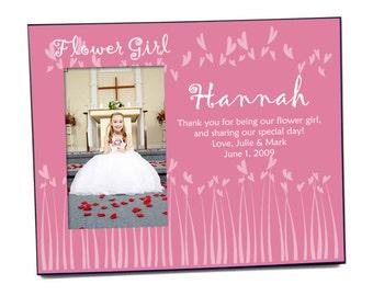 Customized Flower Girl Pink Photo Frame