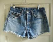 "Vintage 80s/90s LEVIS 501 Cutoff Jean Shorts sz 30"" waist"