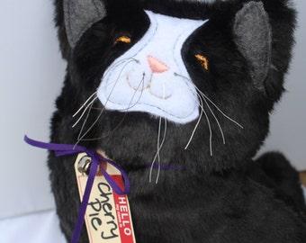 Black Cat Tuxedo Cat Plush Toy