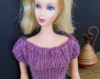 Barbie clothes - purple sparkly dress