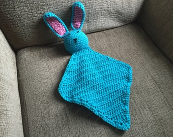 Small Lovey, Bunny Lovey, Lovey Blanket, Bunny Blanket, Security Blanket, Baby Lovey Blanket, Cuddle Blanket, Baby Shower Gifts
