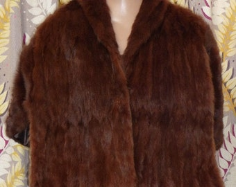 1940s fur shawl #4. Muskrat Love!