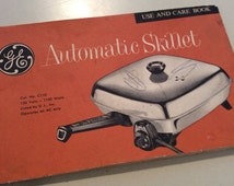 Automatic Skillet  Users Book With  Recipes, General Electric, Cookbook, Pamphlet, GE, How To Guide