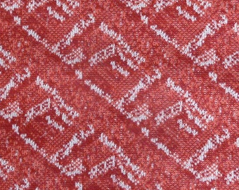 Vintage 1960s polyester double knit fabric diagonal brick type pattern 1 yard