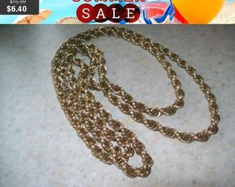 SALE 60% Off Vintage Monet Goldtone necklace, vintage long goldtone necklace