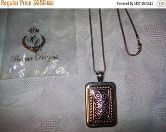 50% OFF Vintage Premier Designs pendant necklace, vintage goldtone silvertone pendant necklace